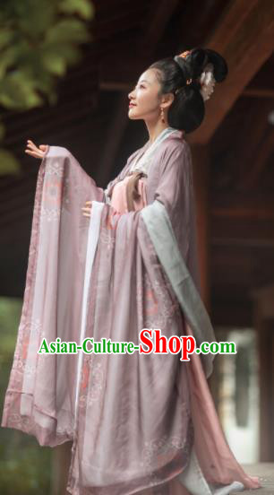 Chinese Traditional Tang Dynasty Imperial Consort Hanfu Dress Ancient Court Empress Replica Costumes for Women