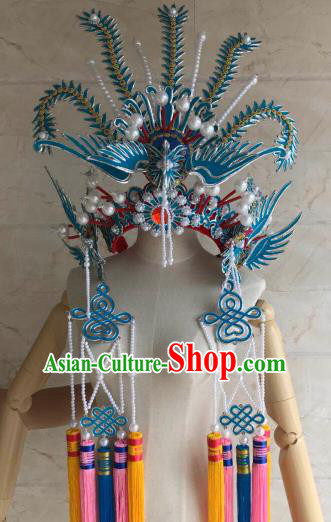 Traditional Chinese Beijing Opera Diva Phoenix Coronet Ancient Bride Princess Hair Accessories for Women