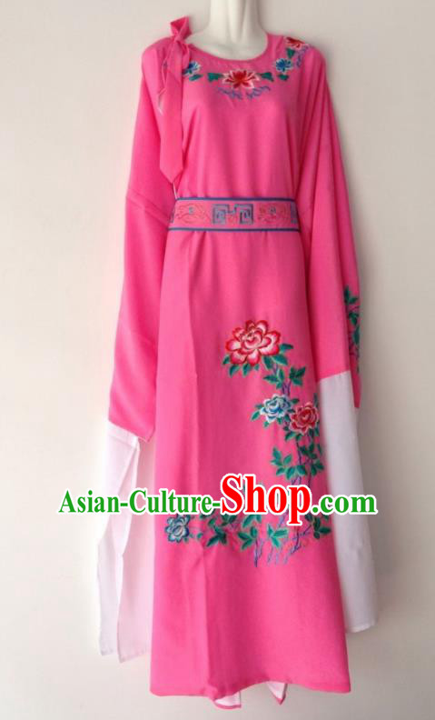 Traditional Chinese Huangmei Opera Niche Rosy Robe Ancient Gifted Scholar Costume for Men