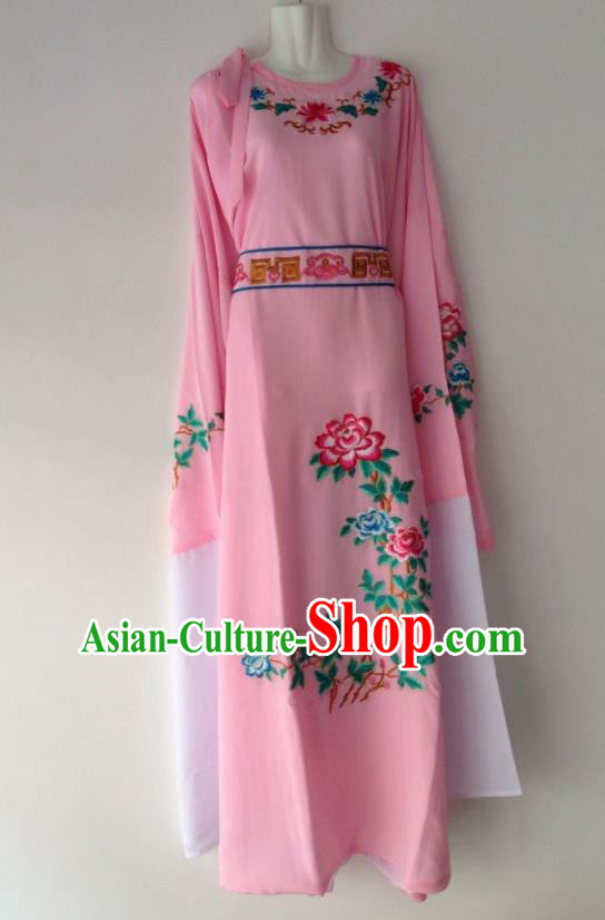 Traditional Chinese Huangmei Opera Niche Pink Robe Ancient Gifted Scholar Costume for Men