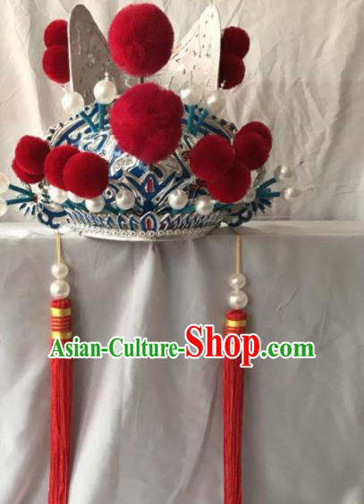 Traditional Chinese Beijing Opera Prime Minister Hat Ancient Chancellor Headwear for Men