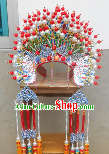 Traditional Chinese Beijing Opera Bride Wedding Phoenix Coronet Ancient Imperial Consort Headwear for Women