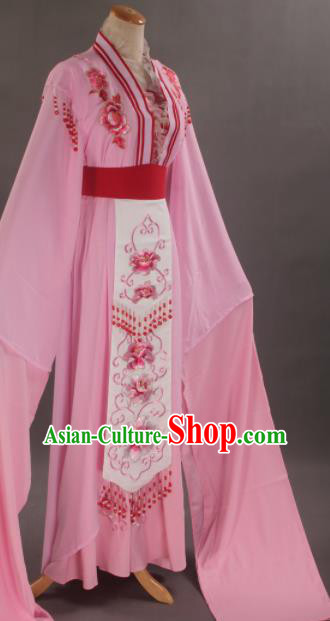 Handmade Traditional Chinese Beijing Opera Hua Tan Diva Pink Dress Ancient Nobility Lady Costumes for Women
