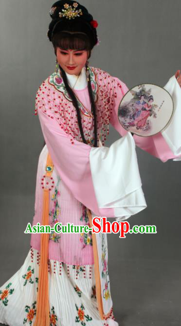 Traditional Chinese Beijing Opera Actress Light Pink Dress Ancient Court Princess Costumes for Women