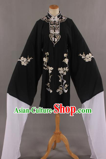 Traditional Chinese Peking Opera Black Cloak Ancient Nobility Lady Costume for Women