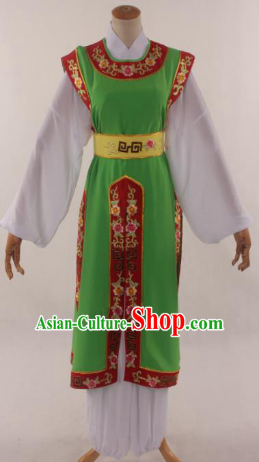 Traditional Chinese Huangmei Opera Niche Green Clothing Ancient Prince Costume for Men
