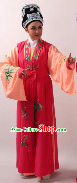 Traditional Chinese Shaoxing Opera Niche Li Menglong Costume Ancient Scholar Clothing for Men