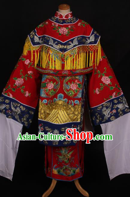 Traditional Chinese Peking Opera Diva Imperial Consort Red Dress Ancient Princess Costume for Women