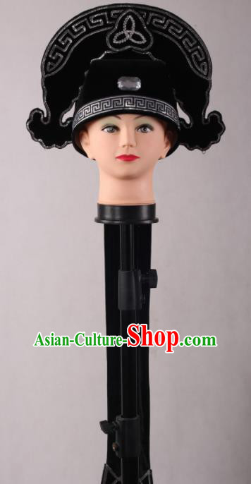 Traditional Chinese Shaoxing Opera Niche Black Hat Ancient Gifted Scholar Headwear for Men