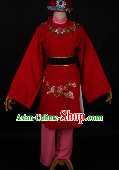 Traditional Chinese Shaoxing Opera Clown Costume Ancient Buffoon Embroidered Clothing for Men