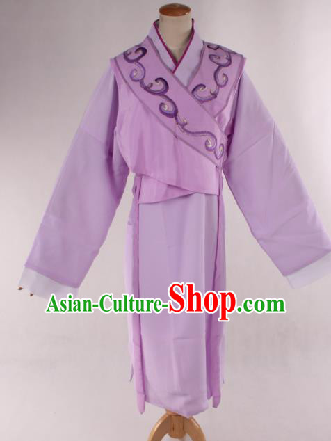 Traditional Chinese Shaoxing Opera Young Lady Lilac Dress Ancient Peking Opera Maidservants Costume for Women