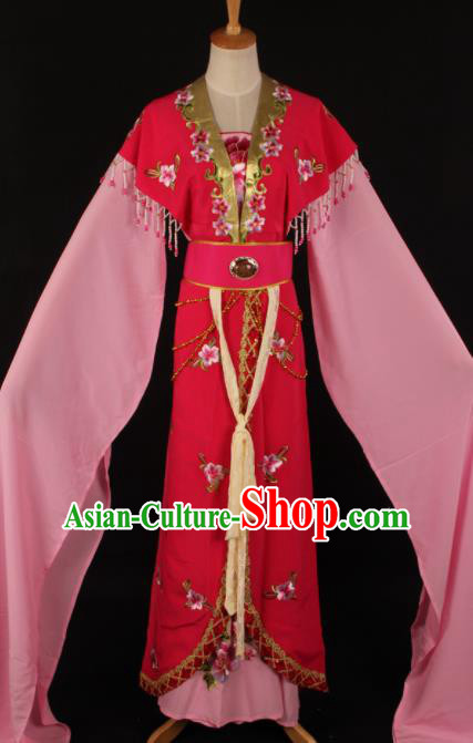 Chinese Traditional Shaoxing Opera Countess Rosy Dress Ancient Peking Opera Actress Costume for Women