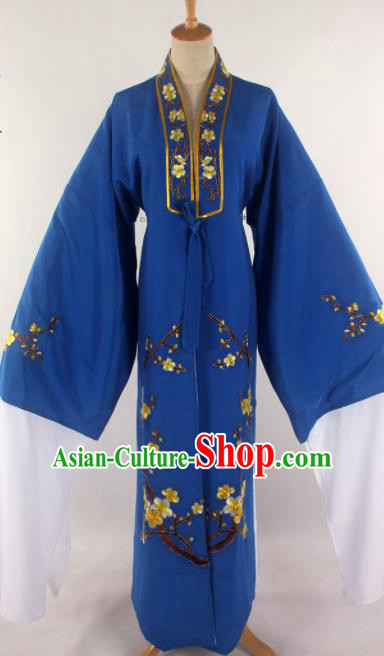 Traditional Chinese Shaoxing Opera Niche Royalblue Robe Ancient Childe Scholar Costume for Men