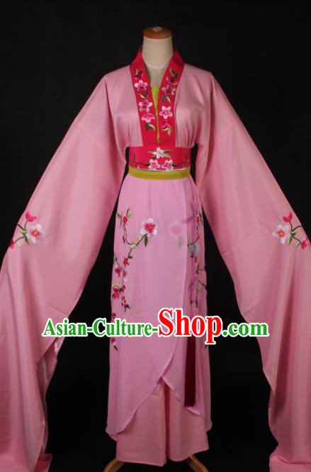 Traditional Chinese Shaoxing Opera Actress Pink Dress Ancient Peking Opera Rich Lady Costume for Women