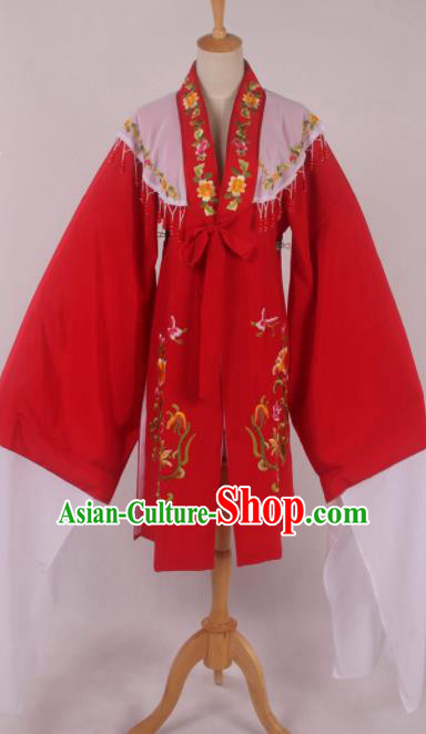 Chinese Traditional Shaoxing Opera Red Cloak Ancient Peking Opera Actress Costume for Women