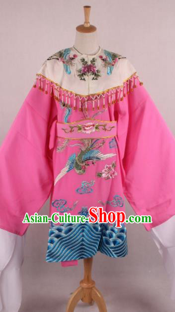Chinese Beijing Opera Imperial Consort Pink Dress Ancient Traditional Peking Opera Actress Costume for Women
