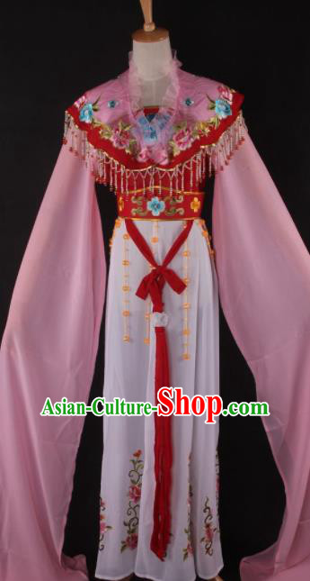 Professional Chinese Beijing Opera Peri Red Dress Ancient Traditional Peking Opera Diva Costume for Women