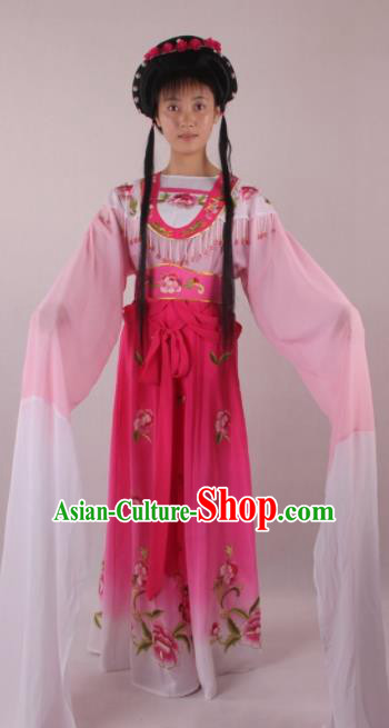 Professional Chinese Beijing Opera Actress Rosy Dress Ancient Traditional Peking Opera Costume for Women