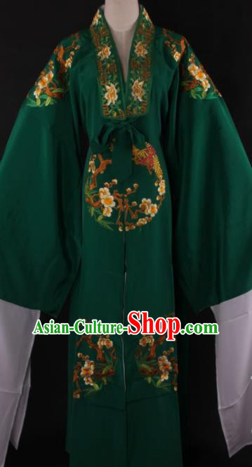 Chinese Shaoxing Opera Niche Gifted Scholar Deep Green Gown Traditional Ancient Childe Costume for Men