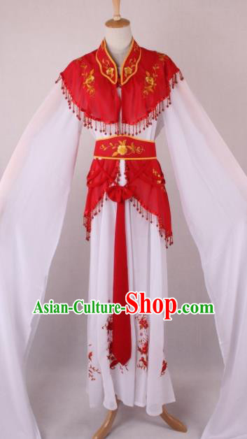 Professional Chinese Beijing Opera Court Lady Red Dress Ancient Traditional Peking Opera Costume for Women