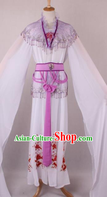 Professional Chinese Beijing Opera Court Lady Lilac Dress Ancient Traditional Peking Opera Costume for Women