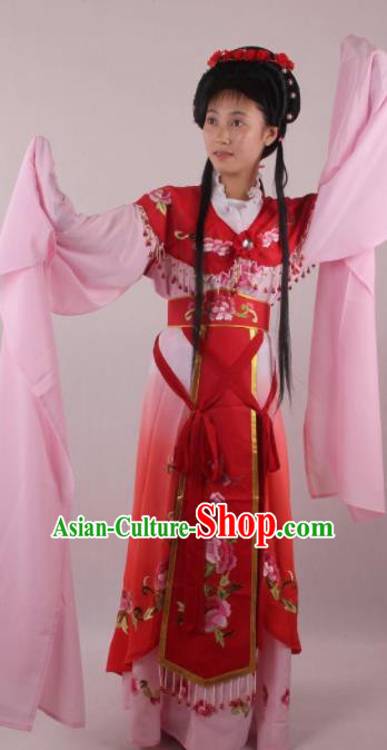 Professional Chinese Beijing Opera Rich Lady Red Dress Ancient Traditional Peking Opera Diva Costume for Women