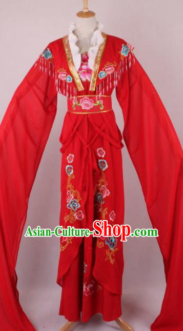 Professional Chinese Beijing Opera Diva Red Dress Ancient Traditional Peking Opera Costume for Women