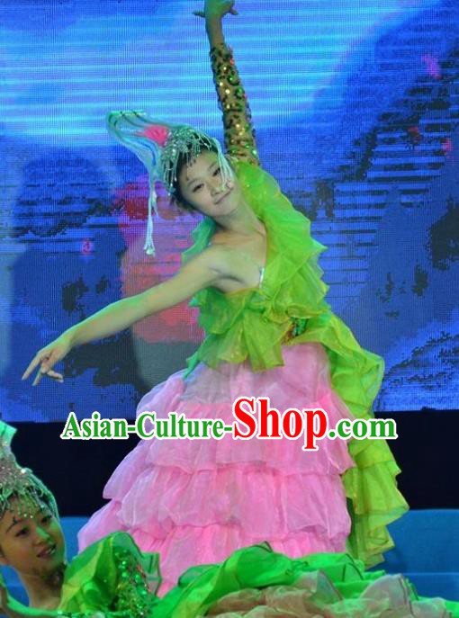 Traditional Chinese Mid Autumn Festival Gala Opening Dance Dress Stage Show Modern Dance Costume for Women