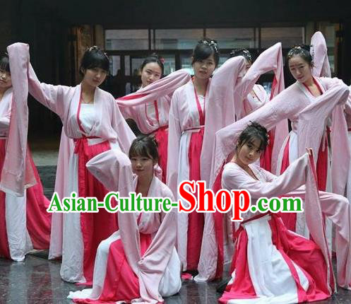 Traditional Chinese Classical Dance Cai Wei Costume Ancient Court Dance Water Sleeve Dance Dress for Women