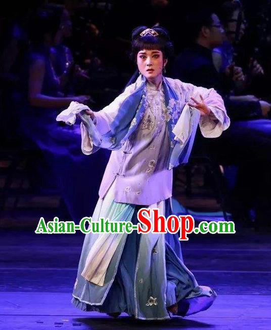 Traditional Chinese Classical Dance Ju Zi Hong Le Costume Drama Stage Show Beautiful Dance Dress for Women