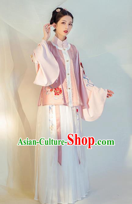 Chinese Ancient Nobility Lady Hanfu Dress Traditional Ming Dynasty Replica Costumes for Women