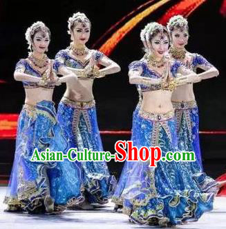 Traditional Chinese Classical Dance Competition Along the Silk Road Costume Indian Dance Stage Show Beautiful Dance Dress for Women