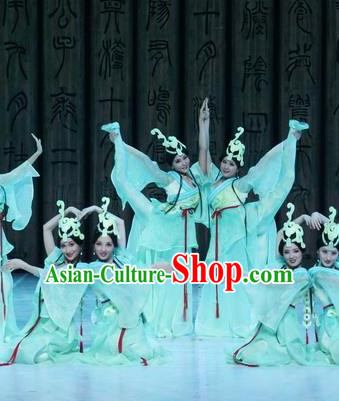 Beautiful Chinese Dance Court Yueren Dance Costume Traditional Classical Dance Dress for Women
