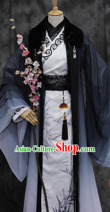 Traditional Chinese Cosplay Swordsman Costume Ancient Royal Highness Hanfu Clothing for Men