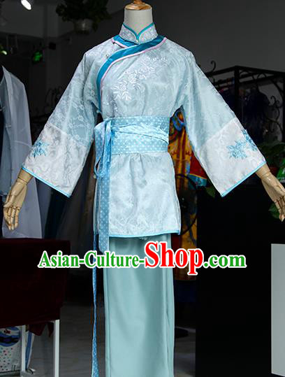 Chinese Ancient Drama Maidservants Costumes Traditional Qing Dynasty Dress for Women