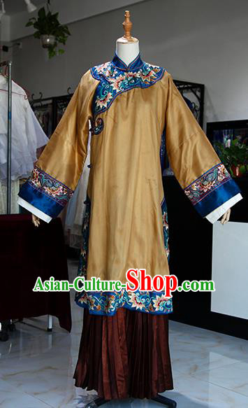Chinese Ancient Drama Queen Costumes Traditional Qing Dynasty Court Empress Dress for Women
