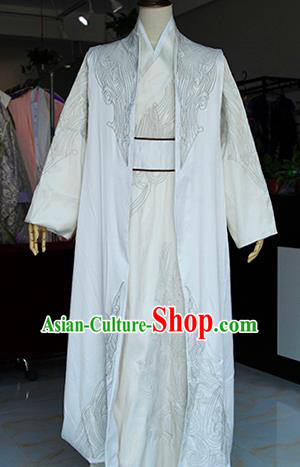 Chinese Ancient Drama Swordsman Costumes Traditional Song Dynasty Prince Clothing for Men
