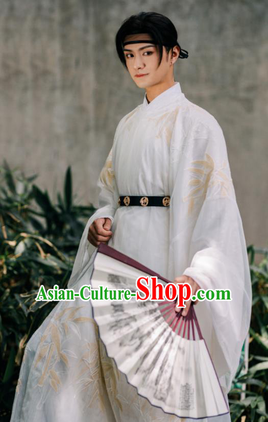 Traditional Chinese Ming Dynasty Prince Hanfu Clothing Ancient Swordsman Replica Costumes for Men