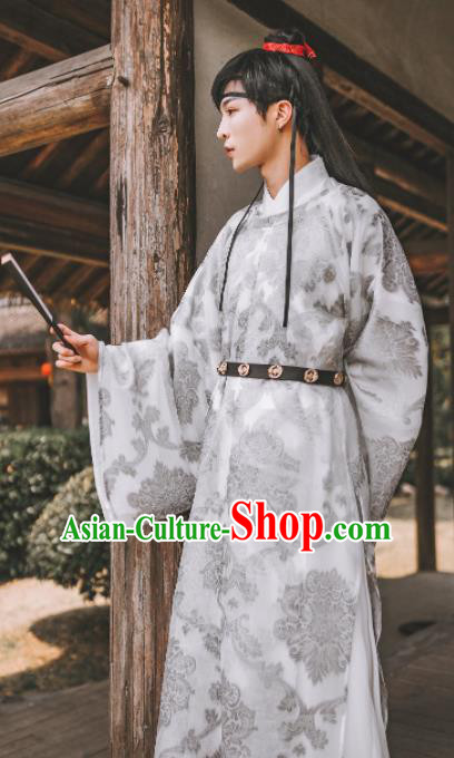 Traditional Chinese Ming Dynasty Childe Hanfu Clothing Ancient Prince Swordsman Replica Costumes for Men