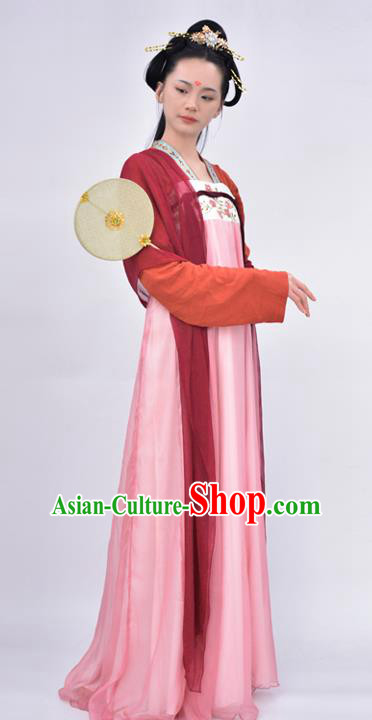 Chinese Traditional Tang Dynasty Court Princess Replica Costumes Ancient Palace Lady Hanfu Dress for Women