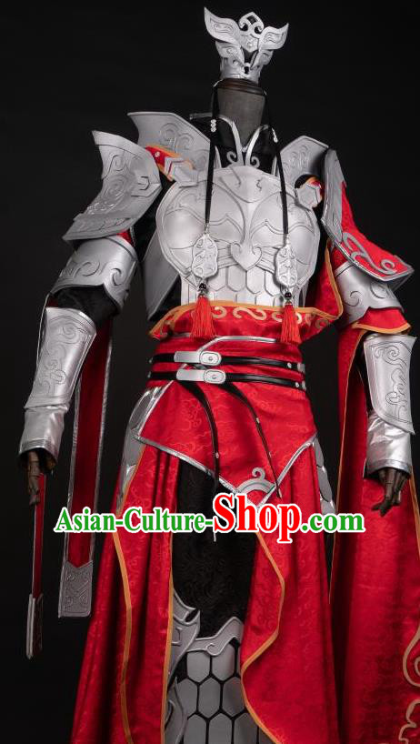 Chinese Ancient Cosplay Heroine Female General Armor Dress Traditional Hanfu Swordsman Costume for Women