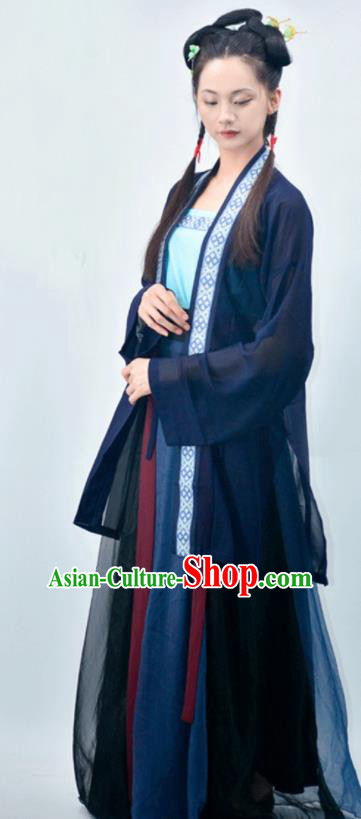 Chinese Traditional Song Dynasty Young Lady Replica Costumes Ancient Maidservants Hanfu Dress for Women