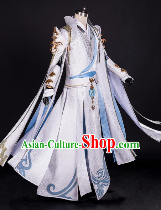 Chinese Ancient Drama Cosplay Royal Highness Young General Knight Clothing Traditional Hanfu Swordsman Costume for Men
