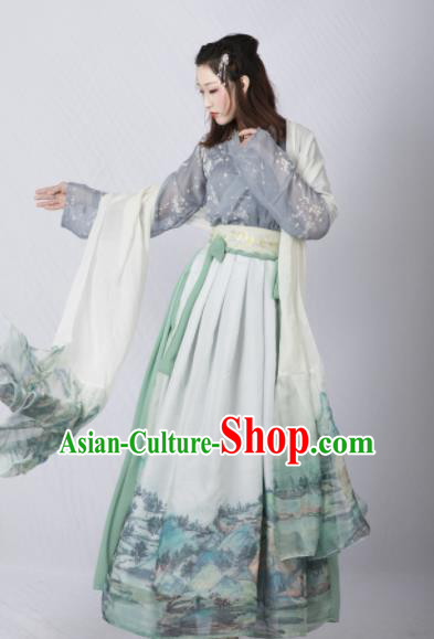 Chinese Ancient Cosplay Court Lady Dress Traditional Hanfu Princess Costume for Women