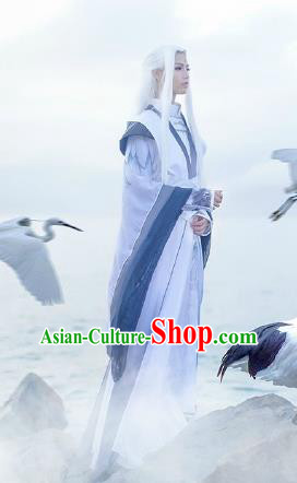 Custom Chinese Ancient Cosplay Taoist Priest Clothing Traditional Knight Swordsman Costume for Men