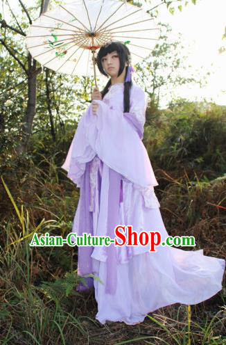 Traditional Chinese Cosplay Young Lady Fairy Dress Ancient Swordswoman Costume for Women