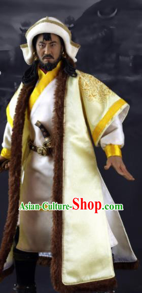 Chinese Ancient Emperor Clothing Traditional Yuan Dynasty King Costumes Complete Set for Men