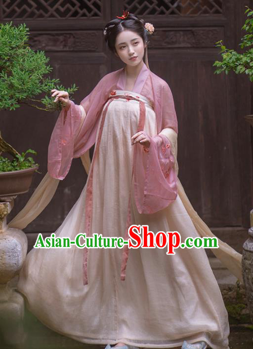 Chinese Ancient Tang Dynasty Imperial Consort Hanfu Dress Traditional Court Princess Costumes for Women