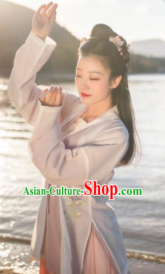 Traditional Chinese Song Dynasty Embroidered Hanfu Dress Ancient Nobility Lady Replica Costumes for Women