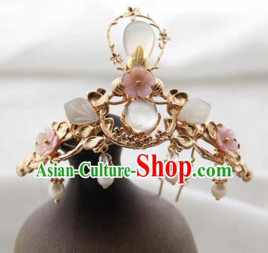 Chinese Ancient Princess Hair Crown Hairpins Traditional Handmade Hanfu Hair Accessories for Women